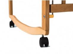 Купить Кроватка с подвижной боковиной, дугами и колесами 1200x600 - 5