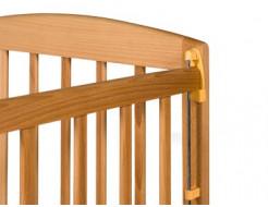 Купить Кроватка с подвижной боковиной, дугами и колесами 1200x600 - 6