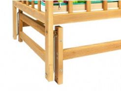 Купить Кровать детская на шарнирах с откидной боковиной на подшипнике 1200х600 - 14