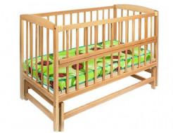 Купить Кровать детская на шарнирах с откидной боковиной на подшипнике 1200х600 - 12