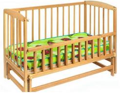 Купить Кровать детская на шарнирах с откидной боковиной на подшипнике 1200х600 - 13