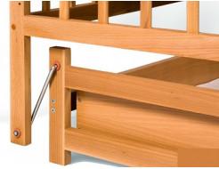 Купить Кровать детская на шарнирах+ящик 1200х600 - 17