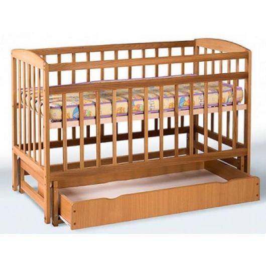 Кровать детская на шарнирах+ящик с откидной боковиной 1200х600