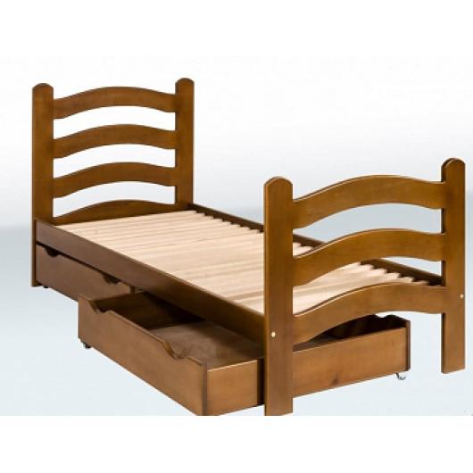 Кровать одноярусная с фигурными спинками и ящиками 1900х800