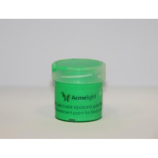 Аквагрим флуоресцентный AcmeLight для тела зеленый 20 мл - интернет-магазин tricolor.com.ua