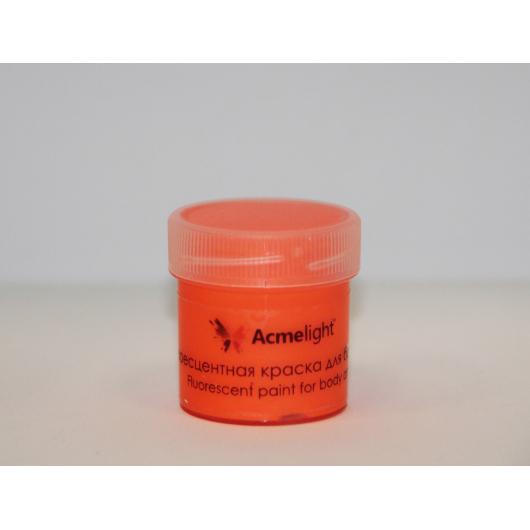 Аквагрим флуоресцентный AcmeLight для тела оранжевый 20 мл - интернет-магазин tricolor.com.ua