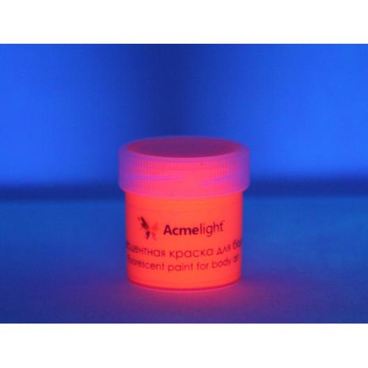 Аквагрим флуоресцентный AcmeLight для тела оранжевый 20 мл - изображение 2 - интернет-магазин tricolor.com.ua