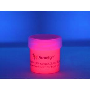 Аквагрим флуоресцентный AcmeLight для тела розовый 20 мл - изображение 2 - интернет-магазин tricolor.com.ua