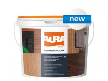Состав декоративно-защитный для древесины Aura ColorWood Aqua прозрачный