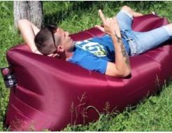 Купить Надувной шезлонг-лежак.top standart бордовый - 21