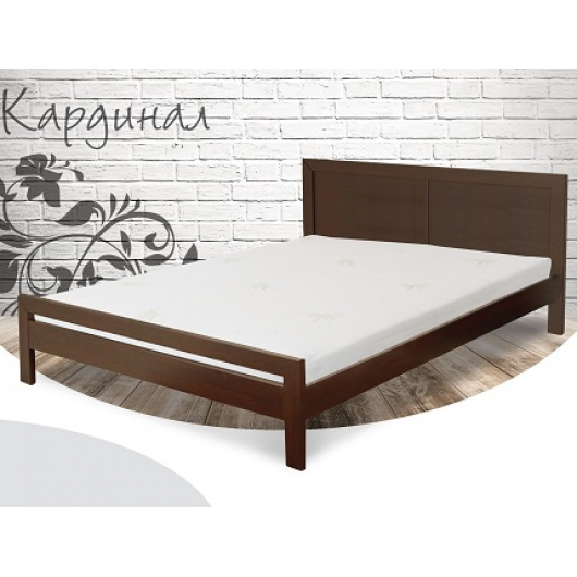 Кровать Кардинал 180х190 бук, цвет натуральное дерево - интернет-магазин tricolor.com.ua