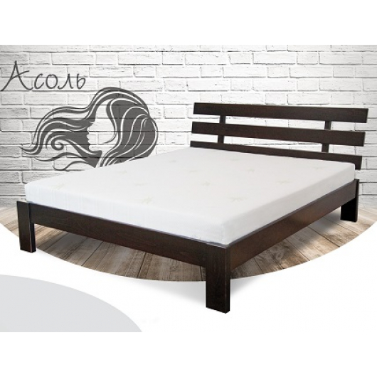 Кровать Ассоль 180х200 бук, цвет натуральное дерево - интернет-магазин tricolor.com.ua