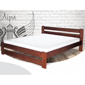 Кровать Лира 140х200 сосна, цвет натуральное дерево - интернет-магазин tricolor.com.ua