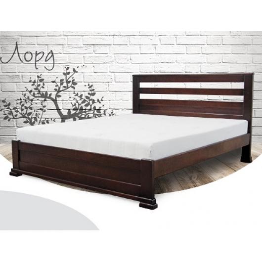Кровать Лорд 140х190 бук, цвет натуральное дерево - интернет-магазин tricolor.com.ua