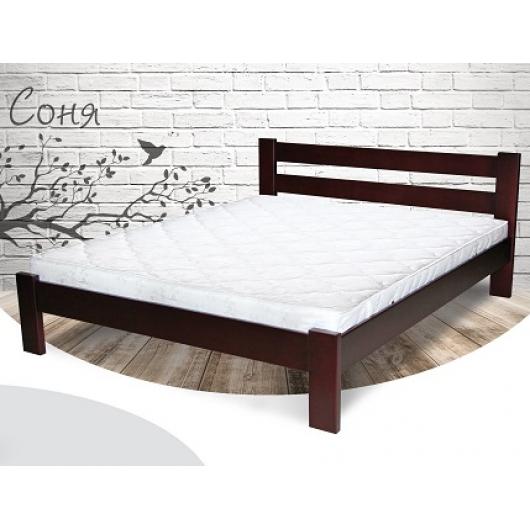 Кровать Соня 140х190 бук, цвет натуральное дерево - интернет-магазин tricolor.com.ua