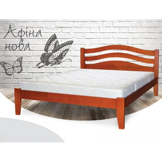 Кровать Афина-новая 90х200 бук, цвет натуральное дерево - интернет-магазин tricolor.com.ua