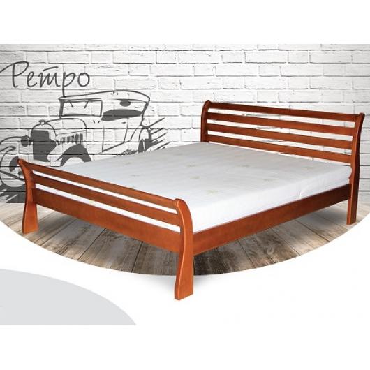 Кровать Ретро 90х190 бук, цвет натуральное дерево - интернет-магазин tricolor.com.ua