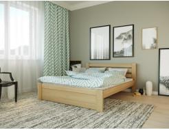 Кровать Жасмин 90х200 бук, цвет натуральное дерево - изображение 2 - интернет-магазин tricolor.com.ua