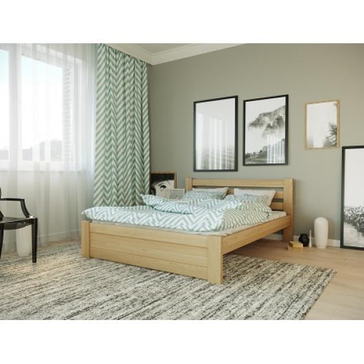 Кровать Жасмин 140х200 бук, цвет натуральное дерево - интернет-магазин tricolor.com.ua
