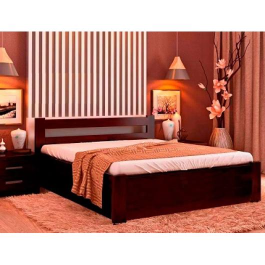 Кровать с подъемным механизмом Соня 160х190 бук, цвет натуральное дерево - интернет-магазин tricolor.com.ua