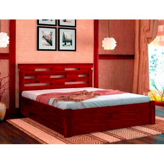 Кровать с подъемным механизмом Зевс 180х200 бук, цвет натуральное дерево - интернет-магазин tricolor.com.ua