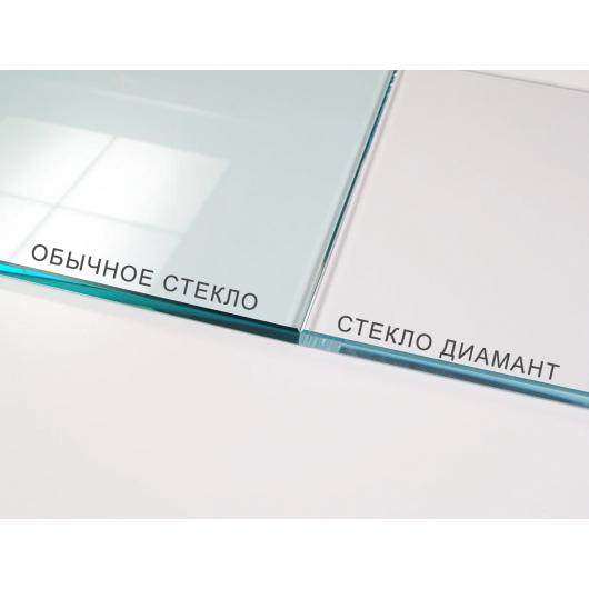 Стеклянная полка в форме H диамант, без крепления (8/120 мм) - изображение 2 - интернет-магазин tricolor.com.ua