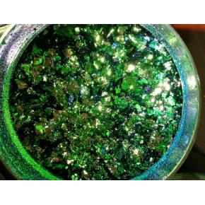 Пигмент Хамелеон-хлопья Tricolor 1110 Синий-зеленый-серый