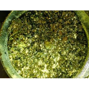 Пигмент Хамелеон-хлопья Tricolor 1111 Зелено-золлотой