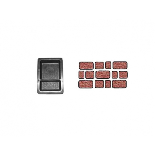Форма для тротуарной плитки «Брук шагрень двойной» 12x12 + 12x6x4,5 AX