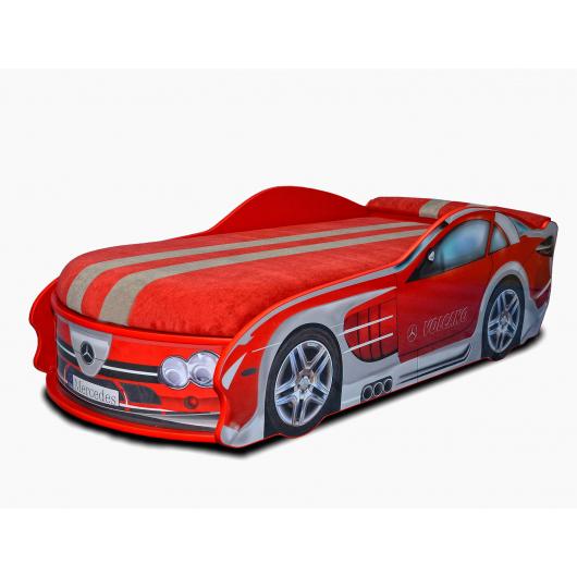 Кровать машина Mercedes красная 80х180 ДСП с подъемным механизмом - интернет-магазин tricolor.com.ua
