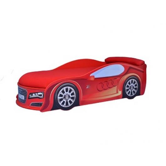 Кровать машина Audi красная 80х180 ДСП с подъемным механизмом