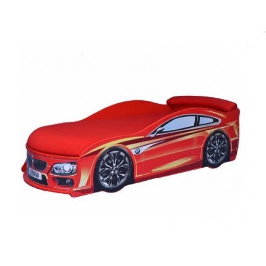 Кровать машина BMW красная 70х150 ДСП с подъемным механизмом - интернет-магазин tricolor.com.ua