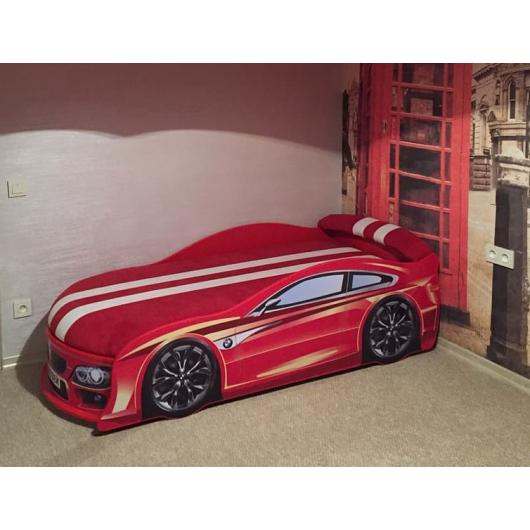 Кровать машина BMW красная 80х180 ДСП с подъемным механизмом - изображение 2 - интернет-магазин tricolor.com.ua