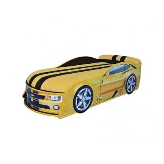 Кровать машина Camaro желтая 70х150 ДСП с подъемным механизмом - интернет-магазин tricolor.com.ua