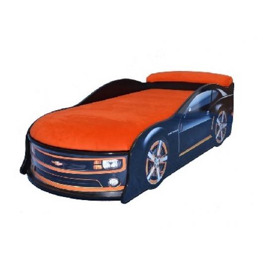 Кровать машина Camaro черная 70х150 ДСП с подъемным механизмом