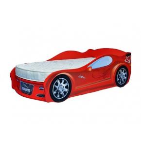 Кровать машина Jaguar красная 80х170 ДСП с подъемным механизмом