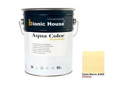 Акриловая лазурь Aqua color – UV protect Bionic House (слоновая кость)