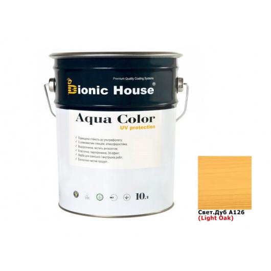 Акриловая лазурь Aqua color – UV protect Bionic House (светлый дуб) - интернет-магазин tricolor.com.ua