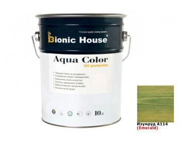 Акриловая лазурь Aqua color – UV protect Bionic House (изумруд)