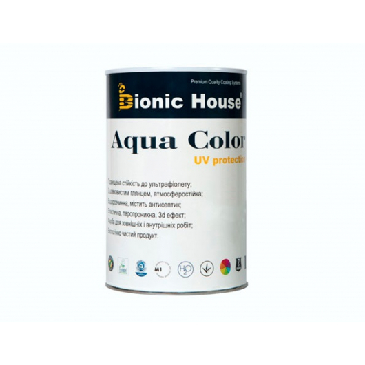 Акриловая лазурь Aqua color – UV protect Bionic House (изумруд) - изображение 3 - интернет-магазин tricolor.com.ua