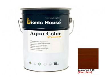 Акриловая лазурь AQUA COLOR – UV protect Bionic House (шоколад)