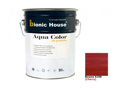 Акриловая лазурь Aqua color – UV protect Bionic House (вишня)