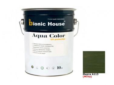 Акриловая лазурь Aqua color – UV protect Bionic House (мирта)