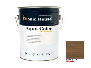 Акриловая лазурь Aqua color – UV protect Bionic House (хаки)