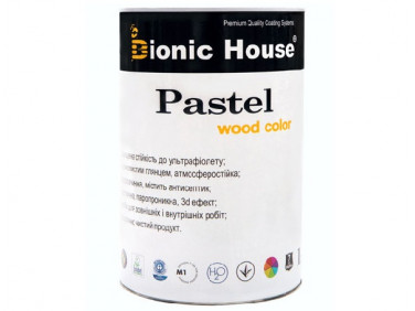 Акриловая пропитка-антисептик PASTEL Wood color Bionic House (арктик)