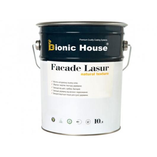 Лазурь с маслом для фасадов Facade Lasur Bionic House (бесцветная) - изображение 3 - интернет-магазин tricolor.com.ua