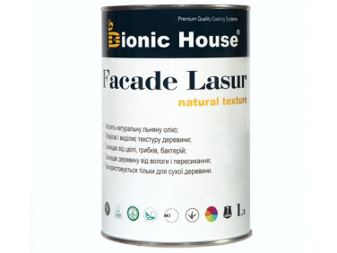Лазурь с маслом для фасадов FACADE LASUR Bionic House (грей)