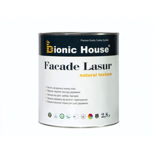 Лазурь с маслом для фасадов Facade Lasur Bionic House (палисандр) - изображение 2 - интернет-магазин tricolor.com.ua