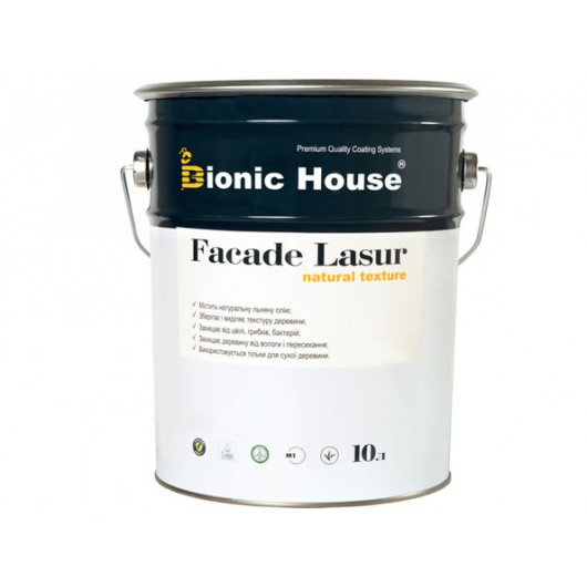 Лазурь с маслом для фасадов Facade Lasur Bionic House (черный) - изображение 3 - интернет-магазин tricolor.com.ua