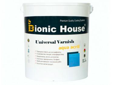 Лак универсальный акриловый Bionic House полуматовый прозрачный